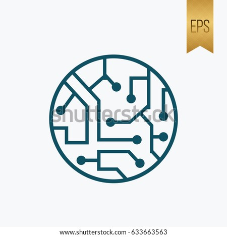 Electronic Icon. Technology Flat Isolated Vector Illustration