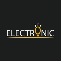 electronic logo icon beautiful abstract vector design