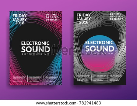 electronic music poster modern
