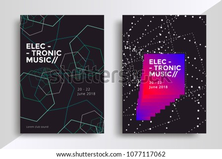 electronic music posters design