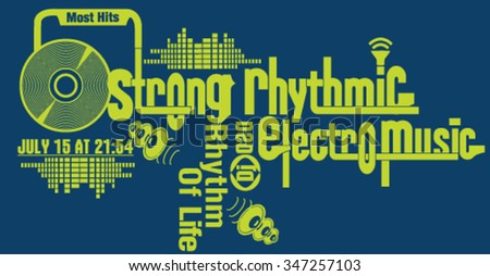 electronic music themed