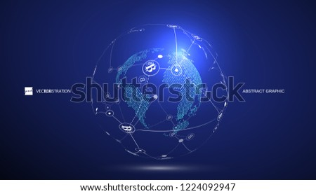 Electronic payment, block chain concept,internet finance,vector illustration.