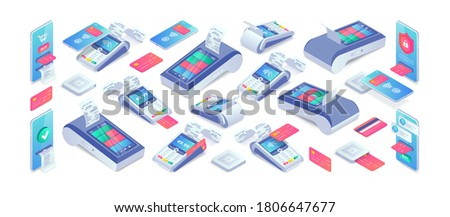 electronic payments isometric