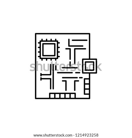 electronic, protoboard icon. Element of robotics engineering for mobile concept and web apps icon. Thin line icon for website design and development, app development. Premium icon