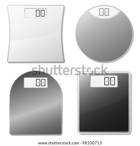 Electronic scales, vector eps10 illustration