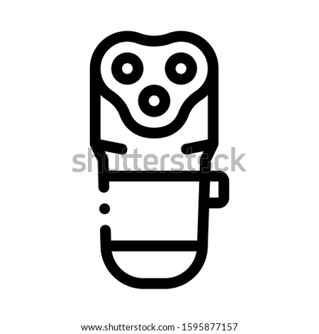 Electronic Shave Machine Icon Vector. Outline Electronic Shave Machine Sign. Isolated Contour Symbol Illustration