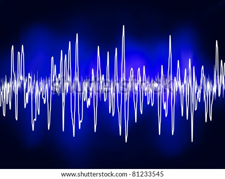 Electronic sine sound or audio waves. EPS 8 vector file included