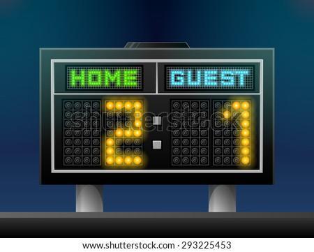 electronic soccer scoreboard