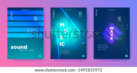 Electronic Sound Waves. Audio Circle. Vibrant Music Minimal. Vibrant Dj Flyer. Color Gradient Banner. Night Club. Color Flyer Dj. Electronic Background.