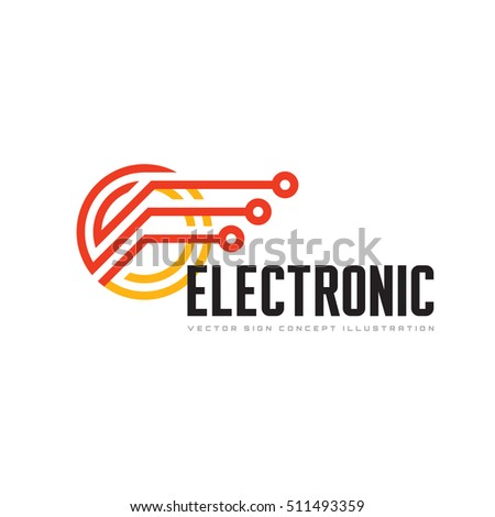 Electronic technology - vector logo template for corporate identity. Abstract chip sign. Network, internet tech concept illustration. Speed computer net icon. Design element.