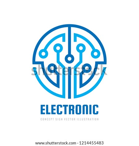 Electronic technology - vector logo template for corporate identity. Abstract digital chip sign. Network, internet tech concept illustration. Design element.