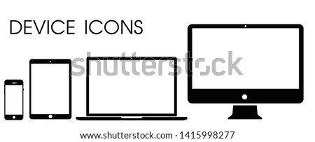 Electronic vector icons Modern technology, smartphones, tablets, computers and notebooks