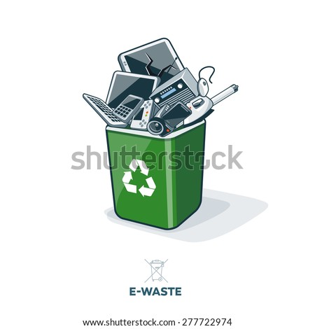 electronic waste in green...