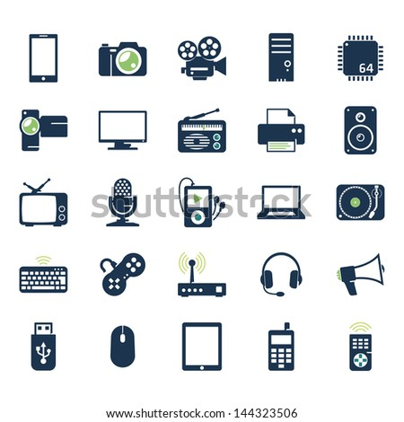 electronics and gadgets icons