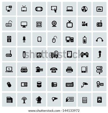 Electronics icons for web,vector