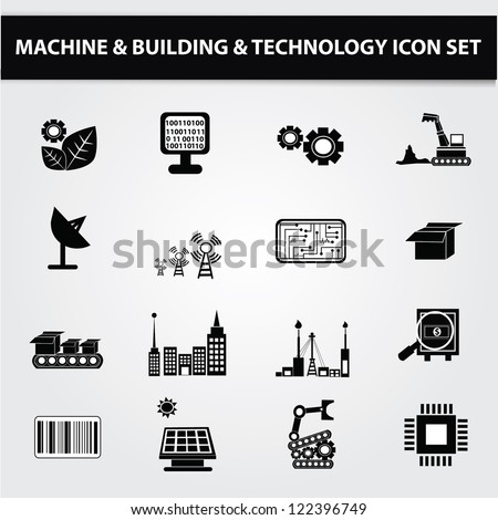 Electronics,Technology icon set,Vector
