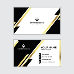 elegan gold business card design emplate