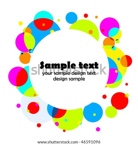 Elegance circle color background with place for your text.