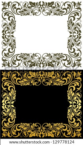 Elegance frame in floral style for luxury design. Jpeg version also available in gallery