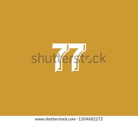 elegance monogram number 77 logo