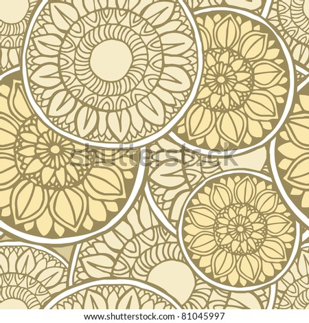 Elegance Seamless pattern, vector ornament illustration in vintage style