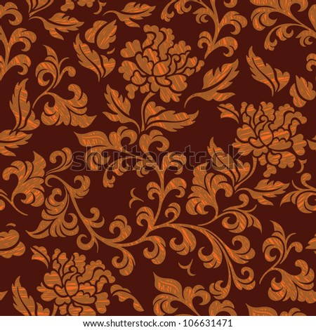 Elegance Seamless pattern with cornflowers flowers, vector floral illustration in vintage style
