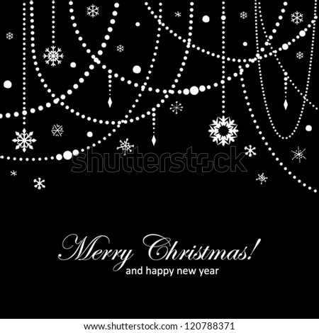 Elegant abstract Christmas card