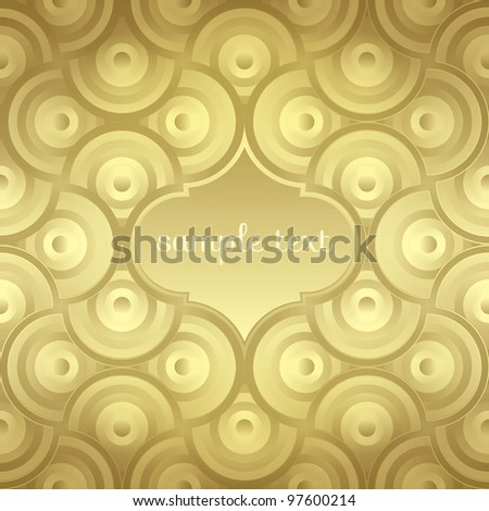 Elegant abstract seamless vector gold background pattern wrap