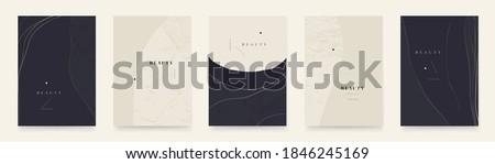 Elegant abstract trendy universal background templates. Minimalist aesthetic. Stock foto ©