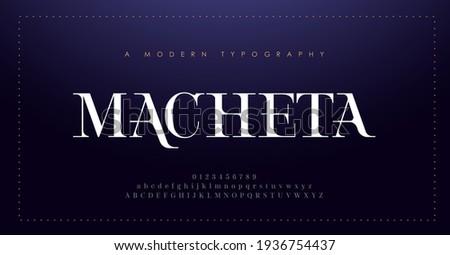 Elegant alphabet letters font and number. Classic Lettering Minimal Fashion Design. Typography modern serif fonts decorative vintage concept. vector illustration