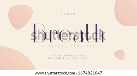 Elegant alphabet letters font and number. Classic Urban Lettering Minimal Fashion Designs. Typography fonts uppercase lowercase and numbers. vector illustration