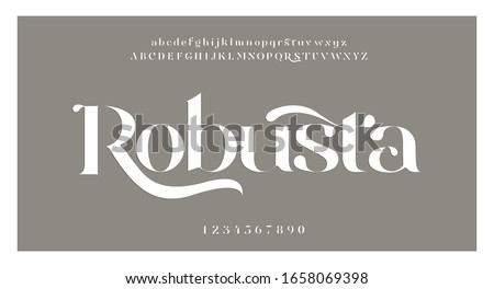 Elegant alphabet letters font and number. swoosh Classic Lettering Minimal Fashion Designs. Typography fonts regular uppercase and lowercase. vector illustration