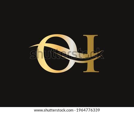 Elegant and stylish OI logo design for your company. OI letter logo. OI Logo for luxury branding.  Foto stock ©
