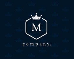 Elegant and vintage uppercase letter M, graceful royal style, creative, calligraphic, beautiful vector logo  for book design, brand name, business Card, restaurant, boutique, hotel, wedding invitation
