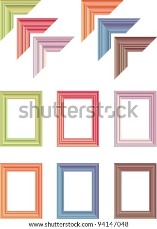 elegant art frames - stock vector