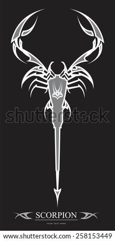 elegant artistic scorpion grey