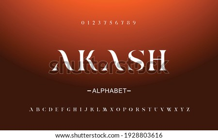 Elegant awesome alphabet letters font and number. Classic Lettering Abstract Designs. Typography fonts regular uppercase. vector illustration