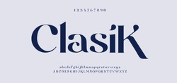Elegant awesome alphabet letters font and number. unique serif font. Classic Lettering Minimal Fashion Designs. Typography fonts regular uppercase and lowercase. vector illustration