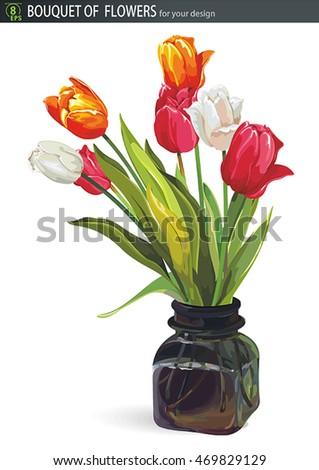 elegant beautiful bouquet of