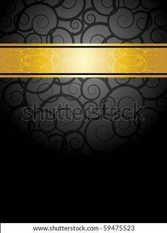 elegant black and gold background - stock vector