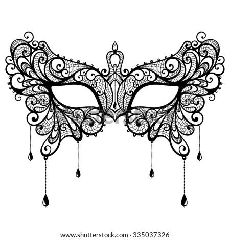 elegant black lace masquerade