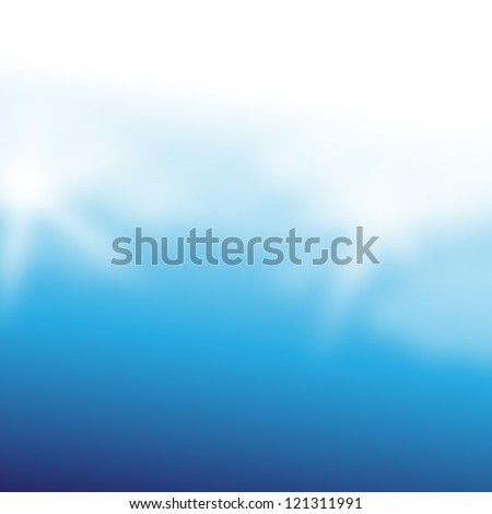 Elegant Blue Background - Vector Illustration, Graphic Design Editable For Your Design. Beautiful Background For Business Brochure.