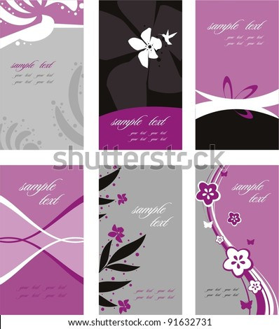 Elegant business card set