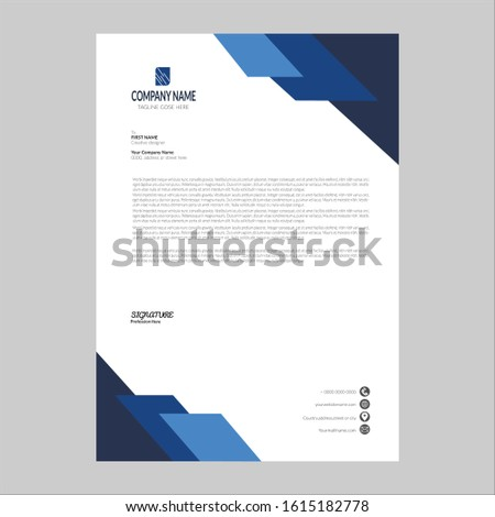 Elegant Business Letterhead Design Template. Abstract letter head templates for your Business project, Vector illustration, and modern style letterhead template design vector