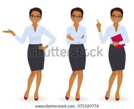 elegant business woman in