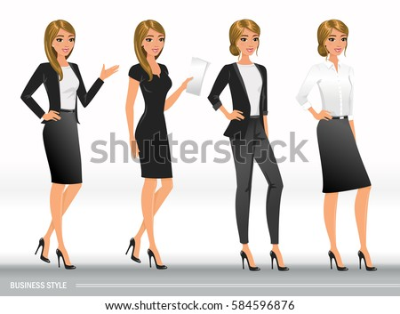 elegant business women in