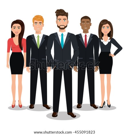 elegant businesspeople vector