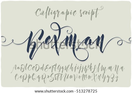 "Elegant calligraphic script font named ""Kexman"" with beautiful curls swashes"