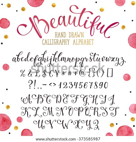 elegant calligraphy letters