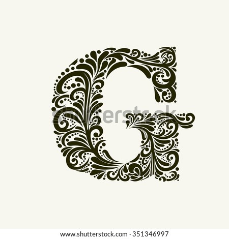 elegant capital letter g in the